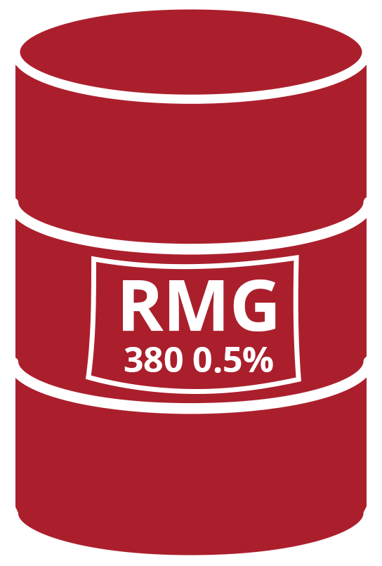 IFO 380 CST - RMG 380 0.5% S, according to ISO 8217/2012 (E)