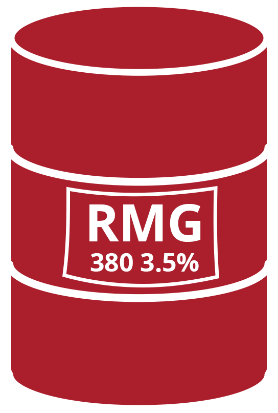 IFO 380 CST - RMG 380 3.5% S, according to ISO 8217/2012 (E)